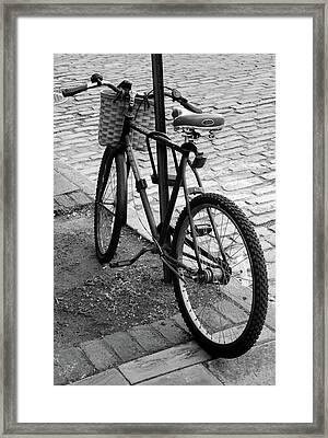 Street Bike  Framed Print by Skip Willits