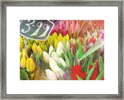 Street Bouquets Framed Print by JAMART Photography
