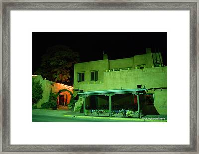 Street Building In Santa Fe Framed Print