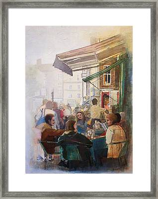 Street Cafe Framed Print by Victoria Heryet