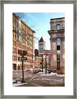 Street Corner Framed Print by Debra Millet