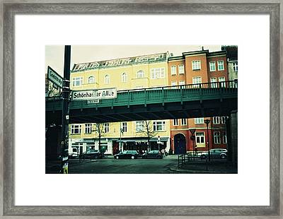 Street Cross With Elevated Railway Framed Print