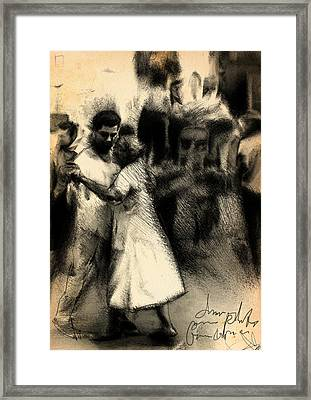 Street Dance Framed Print by H James Hoff
