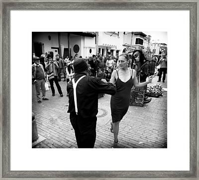 Street Dancing Framed Print by Daniel Gomez