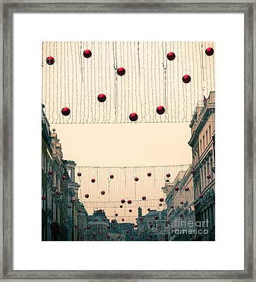 Street Decoration Framed Print