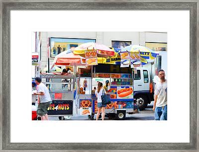Street Food 2 Framed Print by Lanjee Chee