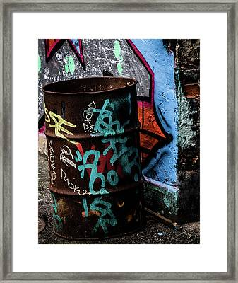 Framed Print featuring the photograph Street Gallery by Odd Jeppesen