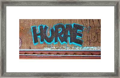 Street Graffiti-hooray Framed Print