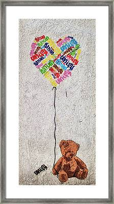 Street Graffiti Framed Print