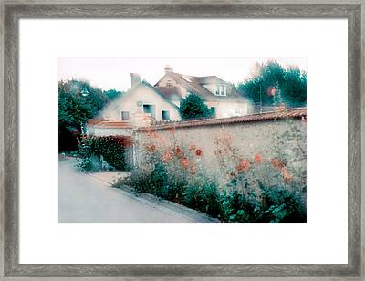Street In Giverny, France Framed Print