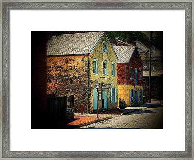 Street In Harper's Ferry Framed Print by Joyce Kimble Smith
