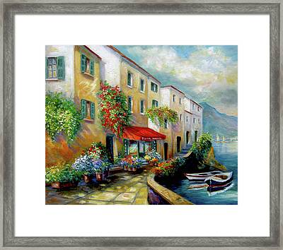 Street In Italy By The Sea Framed Print