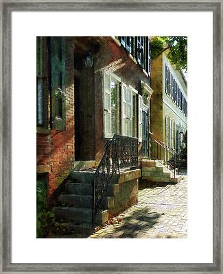 Street In New Castle Delaware Framed Print by Susan Savad