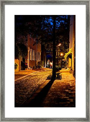Street In Olde Town Philadelphia Framed Print