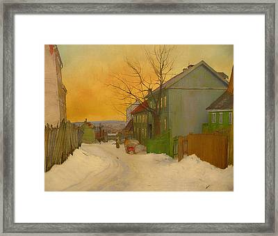 Street In Oslo Framed Print