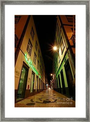 Street In Ponta Delgada Framed Print by Gaspar Avila