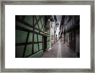 Street In Riquewihr, Alsace Framed Print