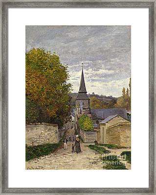 Street In Sainte Adresse Framed Print by Claude Monet