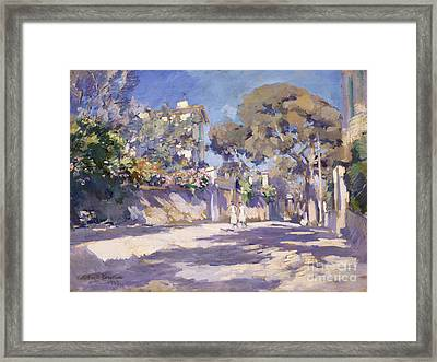 Street In The South Of France Framed Print by Celestial Images