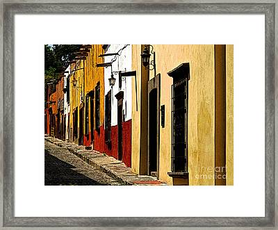 Street In The Sun Framed Print