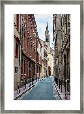 Framed Print featuring the photograph Street In Toulouse by Elena Elisseeva