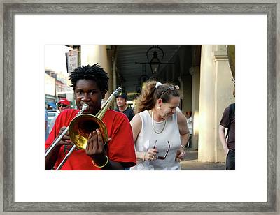Framed Print featuring the photograph Street Jazz by KG Thienemann
