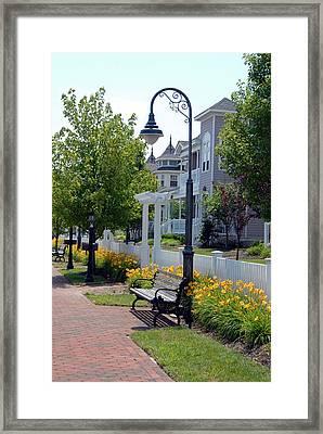 Street Lamp 106 Framed Print by Joyce StJames