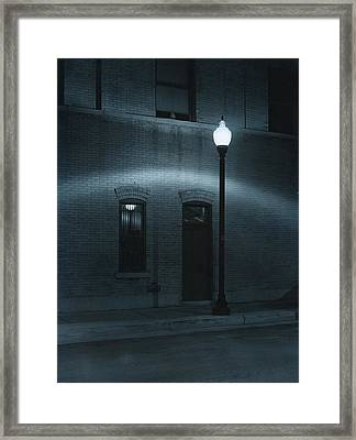 Street Lamp Arc Framed Print by Jim Furrer