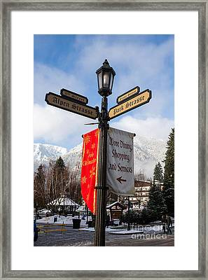 Street Lamp Leavenworth, Washington Framed Print by Jason O Watson