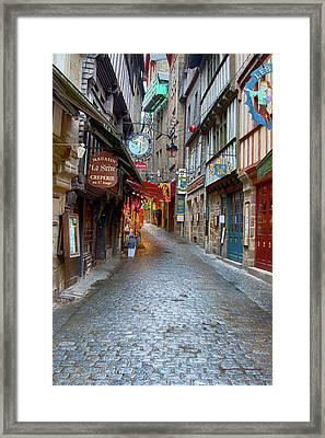 Street Le Mont Saint Michel Framed Print