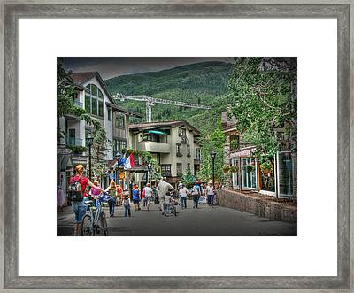 Street Life In Vail Framed Print