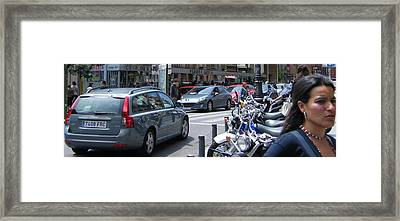 Street Life On Toledo Street - Madrid Framed Print by Thomas Bussmann