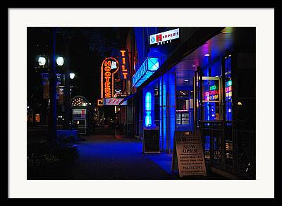 Neon Framed Prints