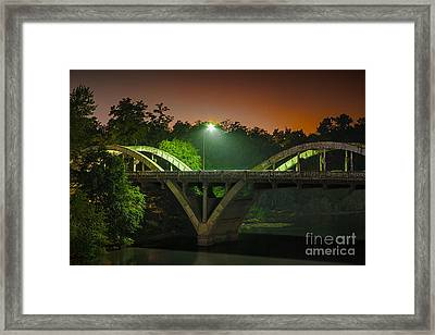 Street Light On Rogue River Bridge Framed Print