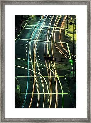 Street Lights Framed Print by Scott Meyer