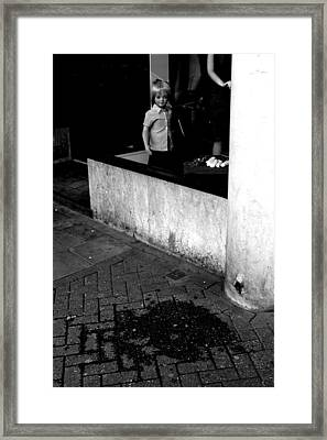 Street Lonely Framed Print by Jez C Self