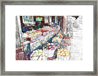 Street Market Framed Print by John K Woodruff