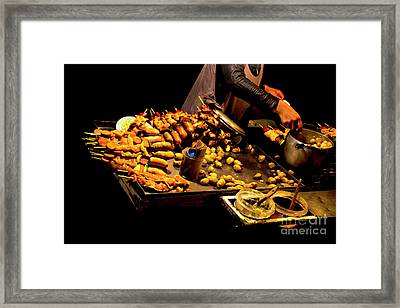 Framed Print featuring the photograph Street Meat by Al Bourassa