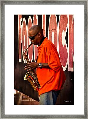 Street Music Framed Print by Christopher Holmes