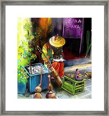 Street Musician In Pietrasanta In Italy Framed Print by Miki De Goodaboom