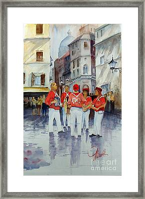 Musicisti Di Strada Italiano Framed Print