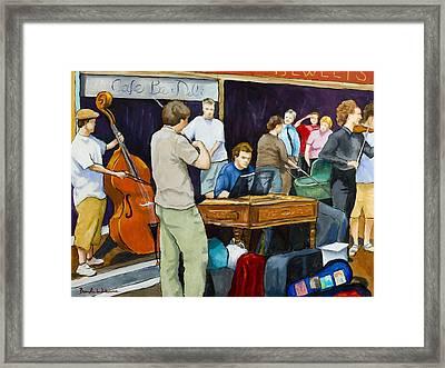 Street Musicians In Dublin Framed Print by Brenda Williams