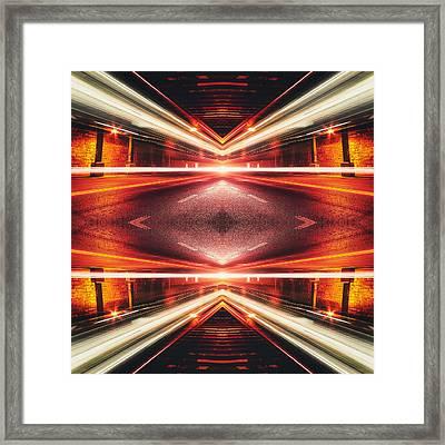 Street Night Light Xtforce-tb Framed Print by Philipp Rietz