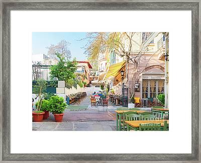 Street Of Athens, Greece Framed Print