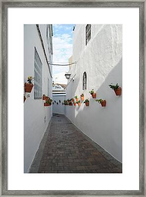 Street Of Benalmadena Pueblo Framed Print