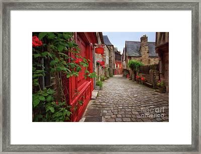 Street Of Dinan 2 Framed Print