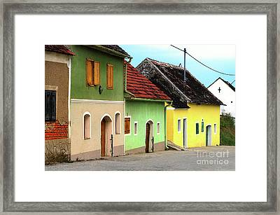 Street Of Wine Cellar Houses  Framed Print