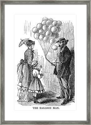 Street Peddler, 1868 Framed Print