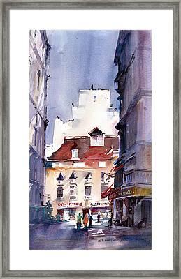 Parisian Stroll Framed Print