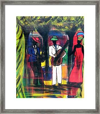 Street Performers Framed Print by Glenda  Jones